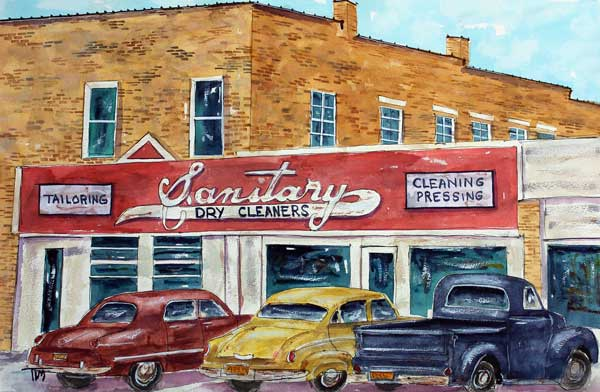 """Squeaky Clean Community""   18 X 24 Watercolor    SOLD! Prints Available:  http://fineartamerica.com/featured/a-squeaky-clean-community-tim-ross.html"