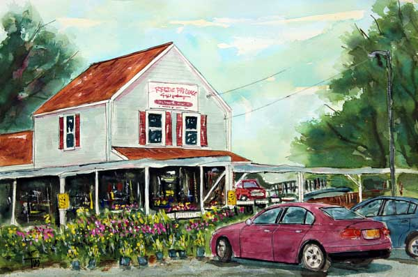 """A Franklin Favorite""   11 X 15 Watercolor   SOLD!   Prints Available:    http://fineartamerica.com/featured/a-franklin-favorite-tim-ross.html"