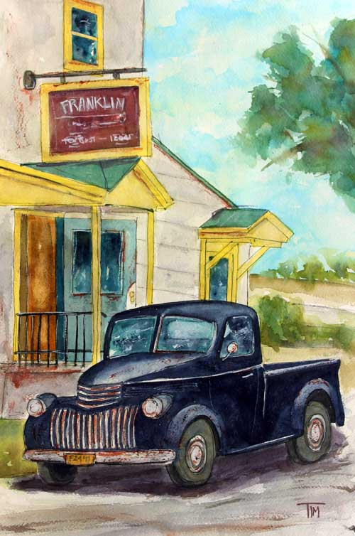 """Mom n' Pop's Shop""  24 X 18 Watercolor   SOLD!  Prints Available:  http://fineartamerica.com/featured/mom-n-pops-shop-tim-ross.html"