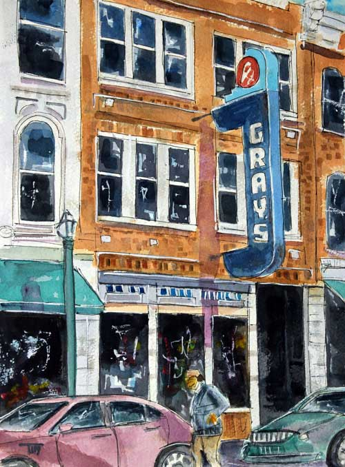 """Main & Gray's""    13 X 11 Watercolor   $149   Prints Available:    http://fineartamerica.com/featured/main-and-grays-tim-ross.html"