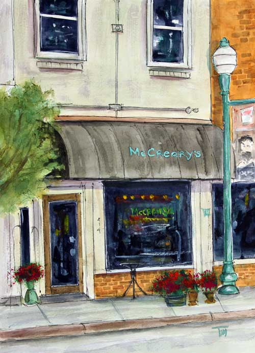 """McCreary's on Main""    13 X 11 Watercolor  $149 Prints Available:    http://fineartamerica.com/featured/mccrearys-on-main-tim-ross.html"