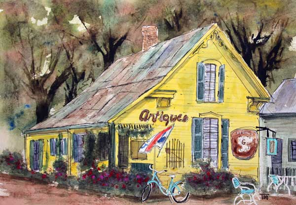 """Leipers Fork Finds""   11 X 13  Watercolor   SOLD! Prints Available:  http://fineartamerica.com/featured/leipers-fork-finds-tim-ross.html"