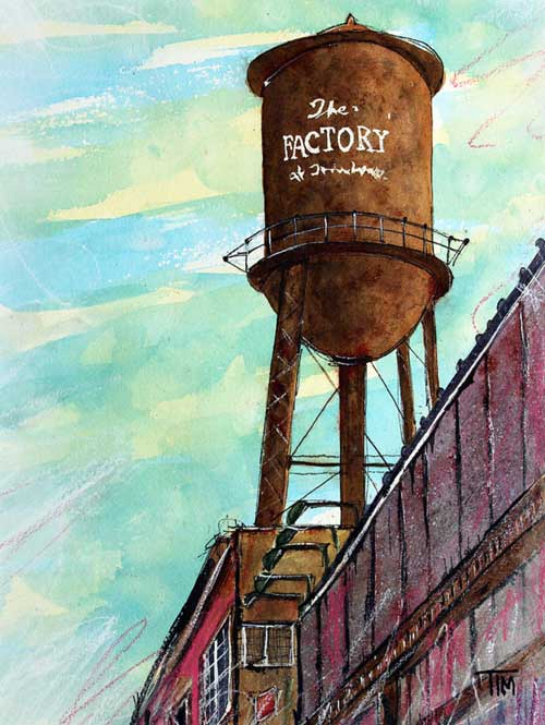 """Factory Outlet""   13 X 11  Watercolor   $149 Prints Available:  http://fineartamerica.com/featured/factory-outlet-tim-ross.html"