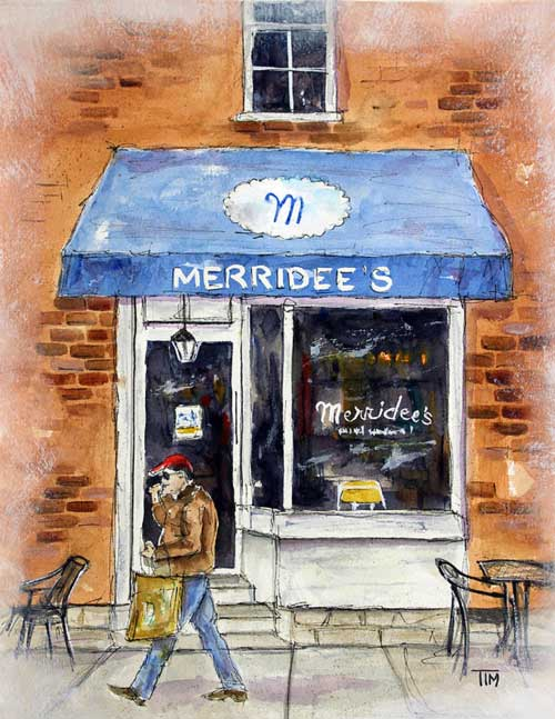 """Another Meridee's Morning""   13 X 11  Watercolor     SOLD!      BUY PRINTS    * Kenny Chesney captured in photo for painting~"