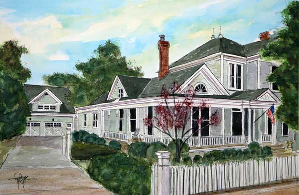 """The Moore Restore""   15 X 22  Watercolor   SOLD! Prints Available:  http://fineartamerica.com/featured/the-moore-restore-tim-ross.html"