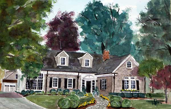 """The Woodburn Home""   15 X 22 Watercolor     * Available Directly from Artist"