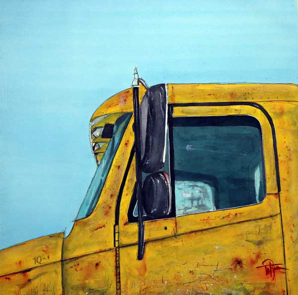 """Warren Outt Trucking Company""    21 x 21  Watercolor          SOLD!       BUY PRINTS"
