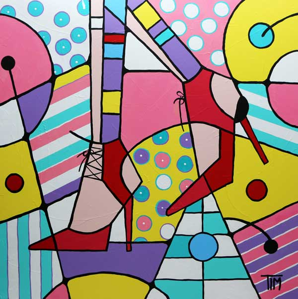 """My New Best Friends""   36 X 36 Acrylics on Gallery Wrap Canvas"