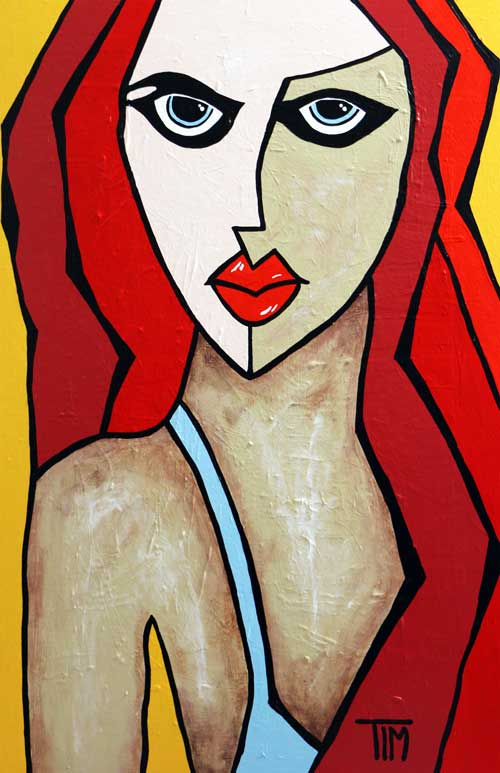 """Another Girl from Ipanema""    * 36 X 24  Acrylics on Wood Panel"