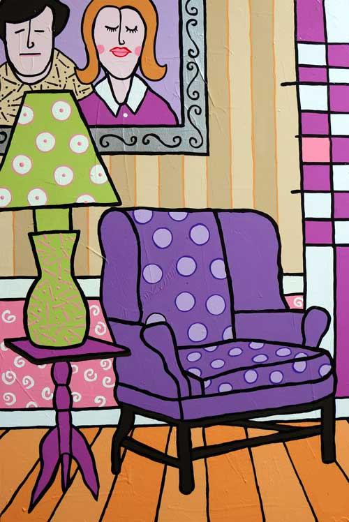 """Our Purple People Seater""  36 X 24 Acrylics on Canvas"