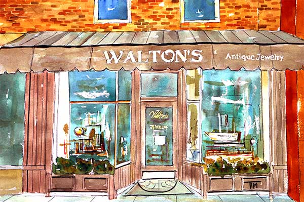 """Walton's Jewelry""     22 x 15  Watercolor      SOLD!       BUY PRINTS"