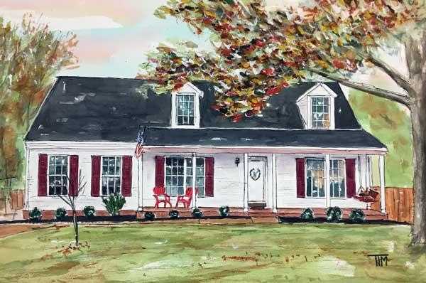 """""""Parker's Paradise"""" 15 X 22 Watercolor SOLD!"""