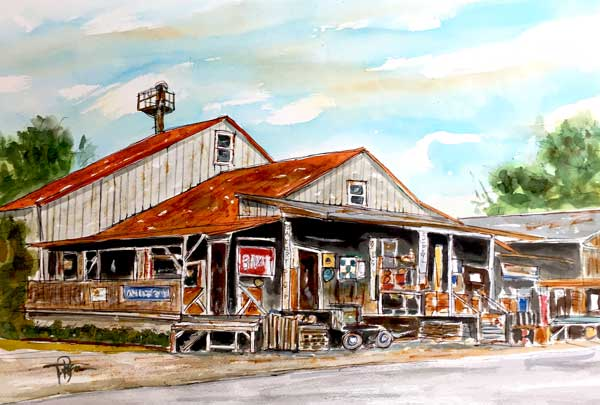 """Amish Mill""     15 x 22 Watercolor     Nolensville, TN     SOLD!      BUY PRINTS"
