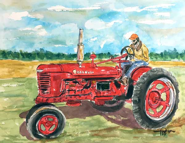 """Still on a Roll""     11 x 14 Watercolor     Farmall ""Model H""       Available: $249        BUY PRINTS"