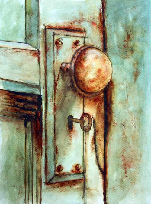 """Key to Many Memories""      12 x 9 Watercolor      SOLD!       BUY PRINTS"
