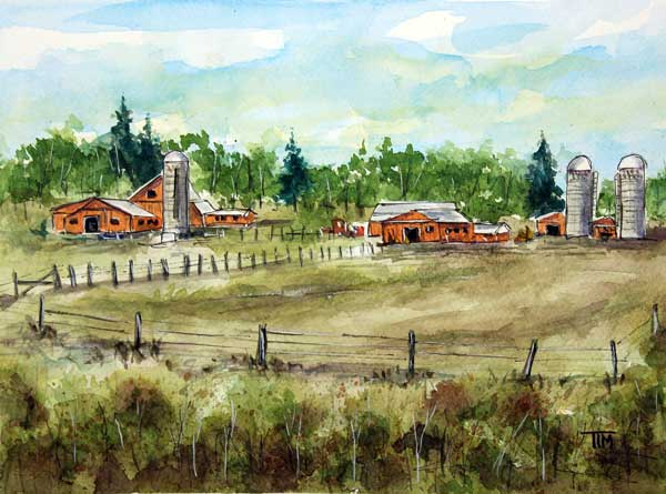 """Thru Guthrie County""     12 x 9 Watercolor     Available:  $199        BUY PRINTS"