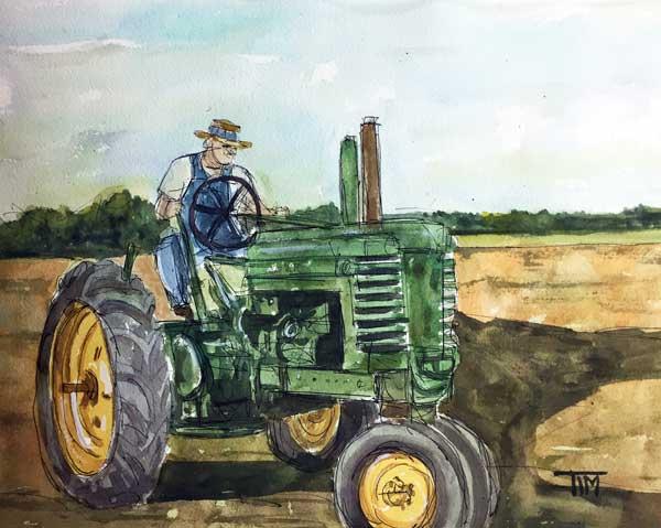 """""""My Dear John Deere""""   11 x 14 Watercolor   SOLD!    BUY PRINTS"""
