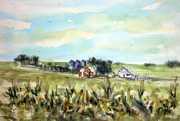 """Gottch's Green Acres""    15 x 22 Watercolor      SOLD!       BUY PRINTS"