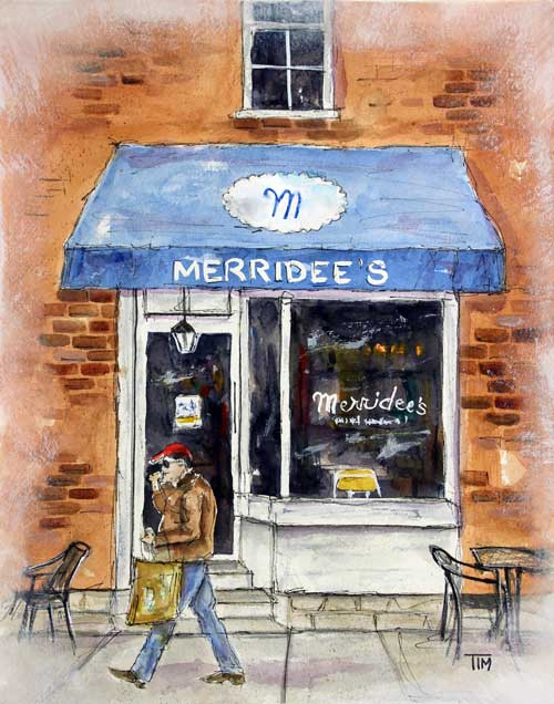 """""""Another Meridee's Morning""""  14 x 11 Watercolor  SOLD!"""