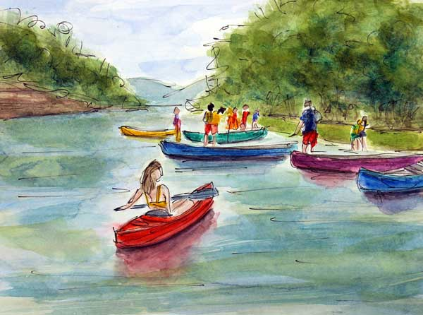 """Last Hurrah on the Harpeth""     9 x 12 Watercolor     SOLD!      BUY PRINTS"