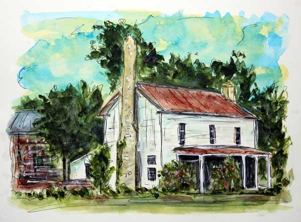 """Last Gasp in Water Valley""   10 x 13 Watercolor   SOLD!   BUY PRINTS"