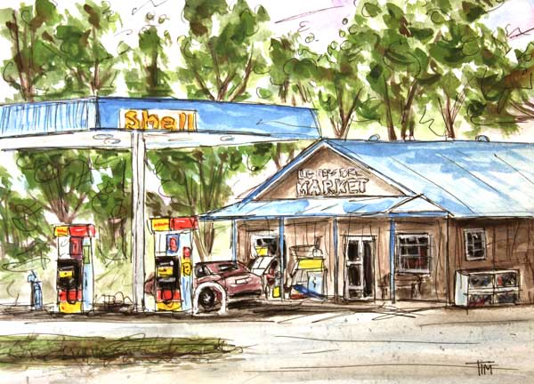 """Leiper's Fork Market""    9 x 12 Watercolor     SOLD!"