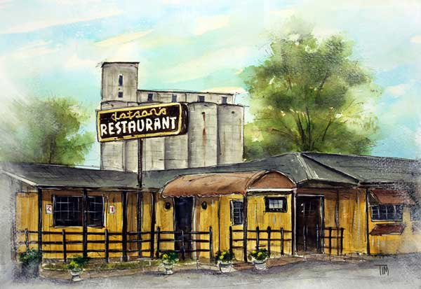 """Last Day at Dotson's""     9 x 12 Watercolor     STOLEN!      BUY PRINTS"