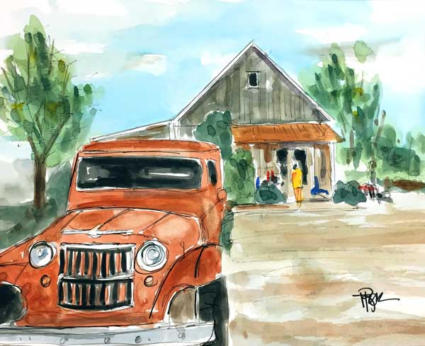 """Jeepers Leipers""    8 x 10 Watercolor     SOLD!     BUY PRINTS"