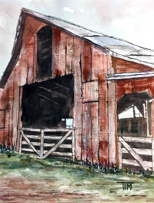 """""""Still Standing"""" 14 x 11 Watercolor  Available: $249    BUY PRINTS"""