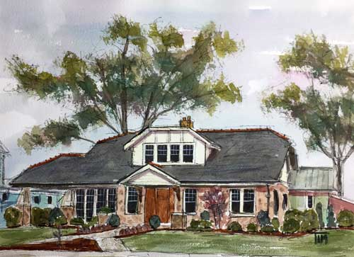 """Third Avenue Redo"" 11 x 14 Watercolor"