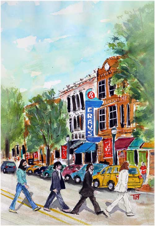 """""""The Fab Fourever"""" … 16 X 12…  Watercolor Original Available…     BUY PRINTS"""