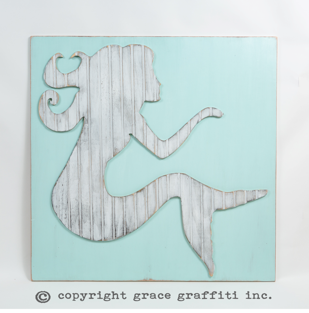 Mermaid Wall Art, Coastal Collection