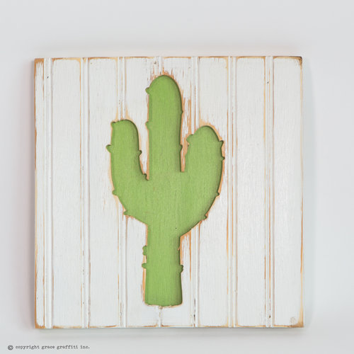 Cactus Silhouette Wall Art, Boho Collection — Grace Graffiti