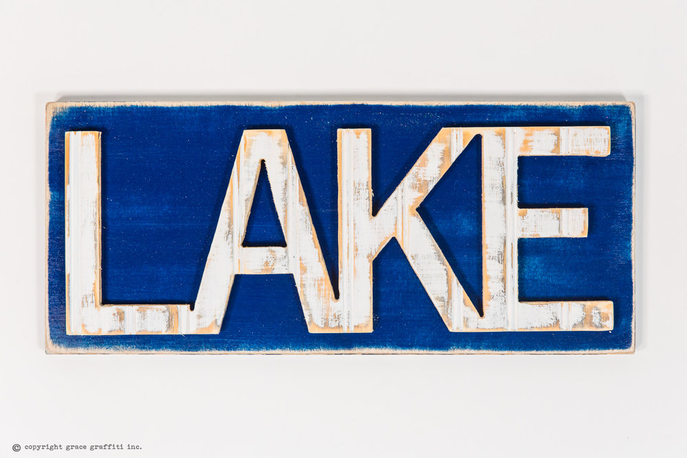 LAKE Word Wall Art Sign