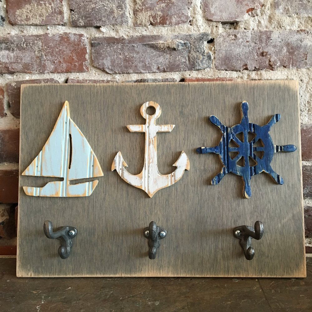 Nautical Wall Art With Hooks, Classic Collection