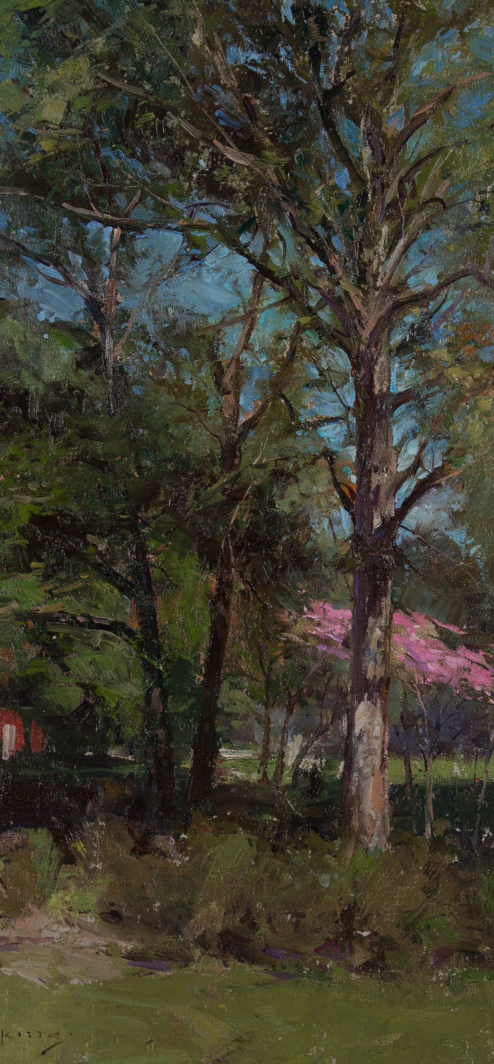 Olmsted Linear Park Award-Best Painting in the Linear Park  'Dogwood Blossoms' by Thomas Jefferson Kitts