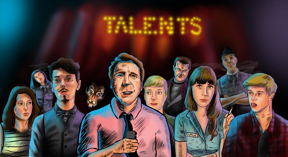Postcard design for Talents (webseries)