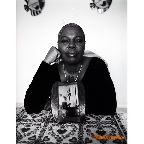 This incredible portrait of Voletta Wallace by @themikeschreiber come to the opening night March 23rd with music curation by @yardgyal  Belinda Becker on Spotify  @plus81gallery  167 Elizabeth Street 6-9pm !!! #rebeccarebecca #photography #hommepourfemme #hiphop #biggiesmalls #spotify