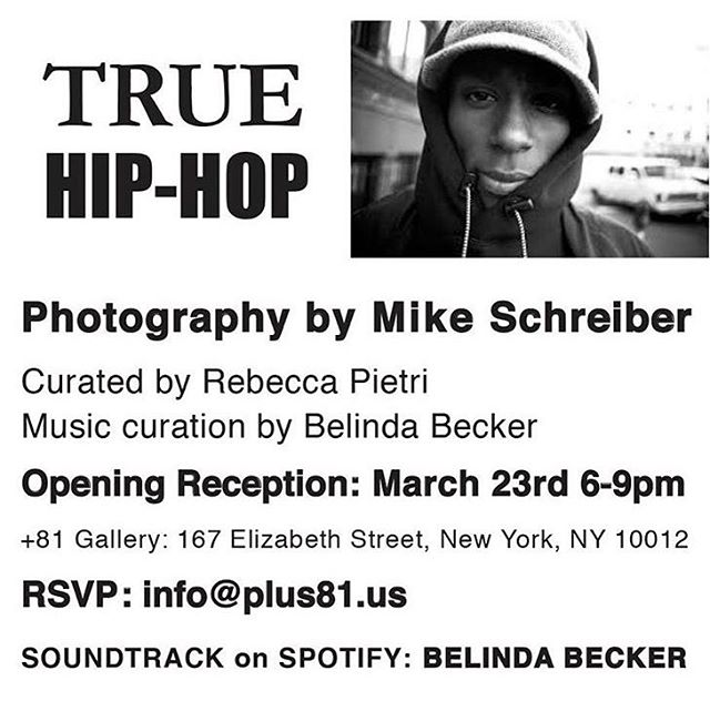 Please come !! #hommepourfemme #rebeccarebecca #hiphop #curator #plus81gallery #belindabecker