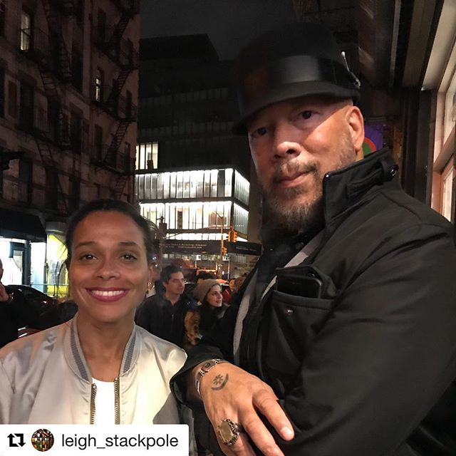 What a great night @hommepourfemme @yardgyal @themikeschreiber #truehiphop #plus81gallery #curator #rebeccarebecca #hommepourfemme