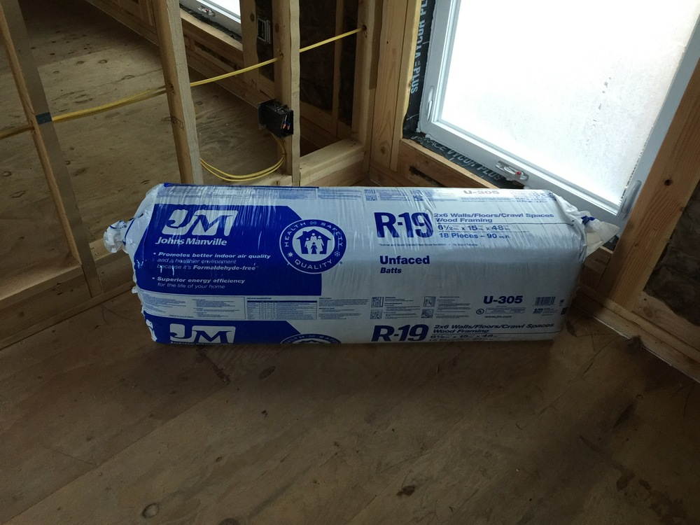 """Building insulation is classified in """"R-"""" values. Our underfloor and exterior wall insulation are both R-19."""