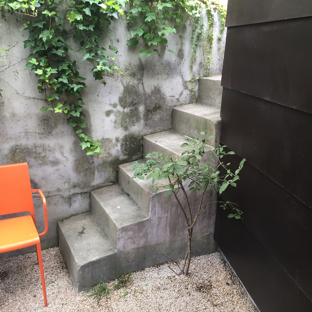 Here is a little courtyard after you enter into the gallery. Lovely little outdoor space for a breath of fresh air, recomposition, and experience of natural light within a building.