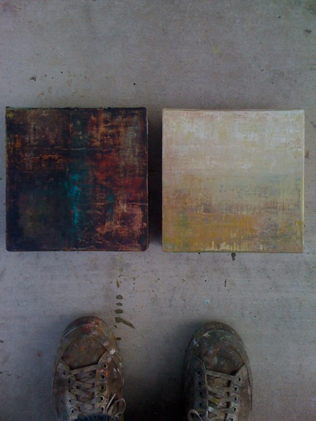Right to left. Submissions to the upcoming miniatures show @ First Street Gallery, Turlock CA.