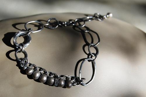 Faire  : sterling silver, Swarovski crystal