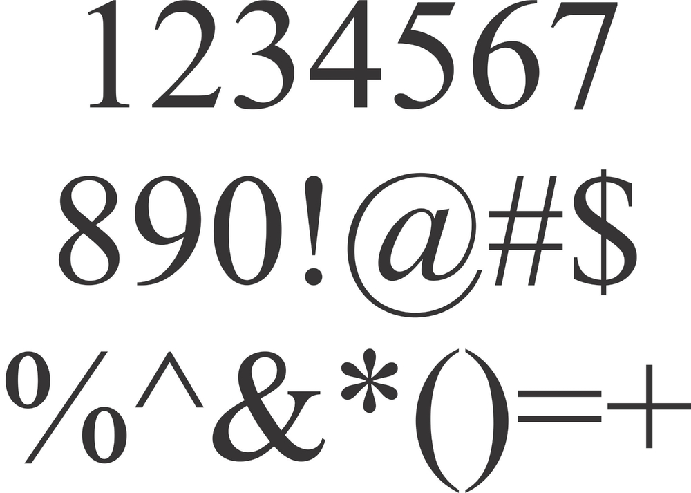 Times New Roman Font Letters Numbers And Symbols Enc Creations