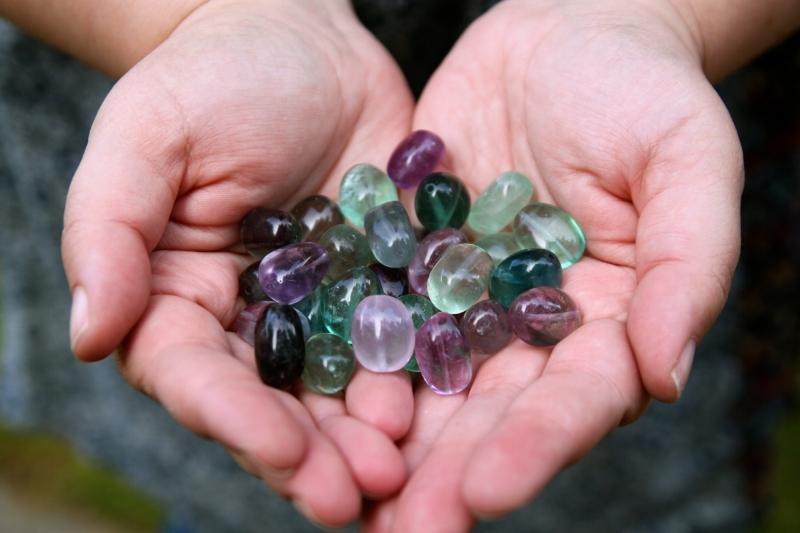 rainbow fluorite beads
