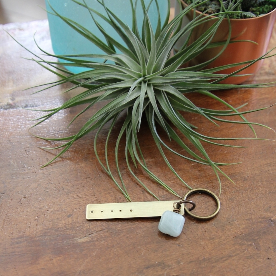 five deep breaths keychain