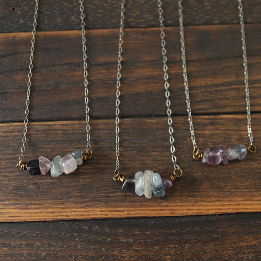 5 deep breaths intuition necklace