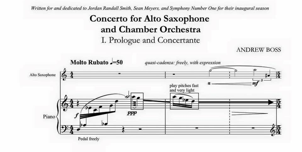 Excerpt from Andrew Boss's  Saxophone Concerto