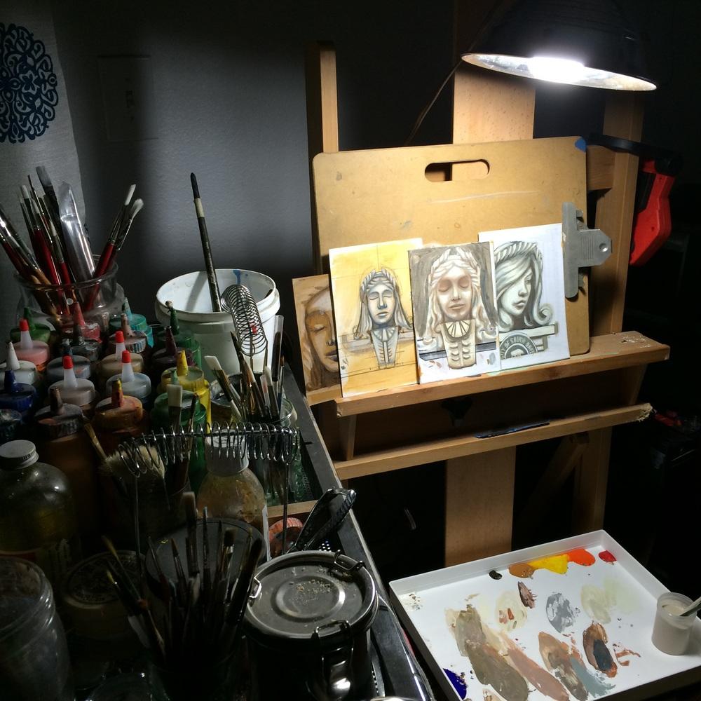 Acrylic studies